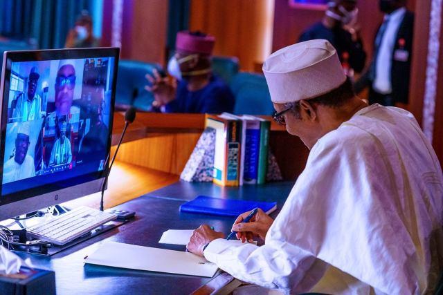 President Buhari virtual meeting with governors