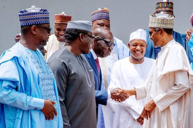 President Buhari With Governors