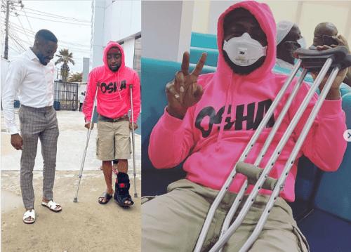 Davido fractures his leg