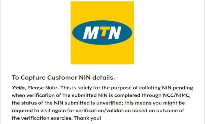 Link NIN to Your Phone Number On MTN Network