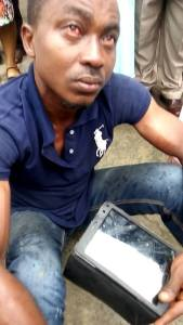 Man Beaten For Slapping A Lady On The Street. Photos/Video