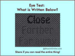 Eye Test: What Is Written In This Picture?