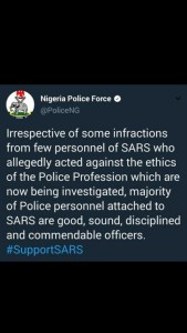 Nigerian Police Starts #SupportSARS Campaign, See Reason