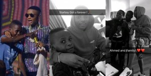 Wow! Wizkid Hangs Out With Young Boy He Signed During His Concert (Photos)