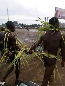 2 Homosexuals Paraded Unclad Publicly In Imo After They Were Caught Having Sex