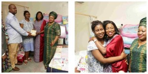 Ambode's Wife Gives Couple With Quintuplets N500,000 Monthly Allowance (Pics)