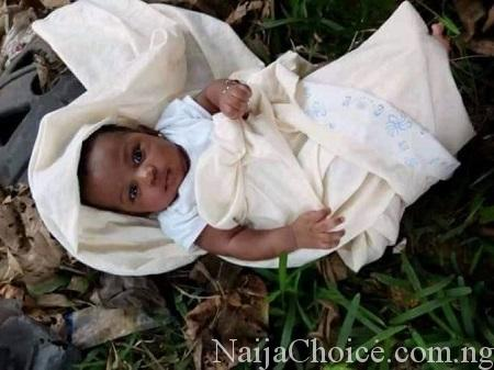 Mother Abandons Her Cute Baby In A Bush... Read The Note She Left Behind (Photos)