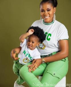 Too Adorable! Serving 'Corper' Dresses Baby In NYSC Uniform For Her Birthday Shoot (Photos)