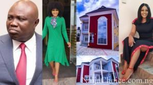 Mercy Aigbe Blow HOT! As Rumor Has It That Governor Ambode Bought Her New Mansion And She Has Reacted