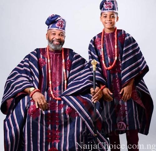 Popular Nollywood Actor, Yemi Solade And His Son Stun InTraditional Attires (Photos)