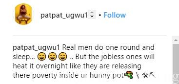 Real Men Do One Round And Sleep - Nollywood Actress, Pat Ugwu