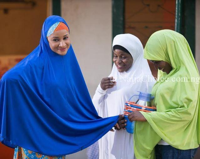 Check Out The Awesome Photos Of Beautiful Actress, Adesua Etomi Rocking The Hijab