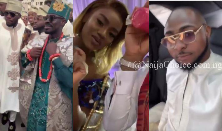 Davido And His 30 Billion Gang Storm Fred Ajudua's Son's Traditional Wedding