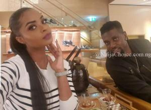 Dillish Mathews & Emmanuel Adebayor celebrate One Year Anniversary