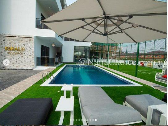 Super Eagles striker Jude Ighalo's new Multi-Million Naira Mansion in Lekki (Photos)