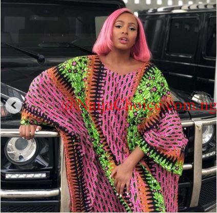 DJ Cuppy Flaunts Car, Wows In Lovely Ankara Outfit (Photos)