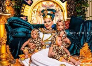 Wow! Fani-Kayode's Beautiful Wife, Precious And Their Triplets Mark Birthday In Style (Photos)