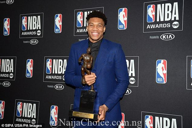 Son Of Former Nigerian Basketball Player, Antetokounmpo In Tears After Winning 2019 NBA MVP Award (Photos)