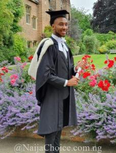 Brilliant Nigerian Emerges Best Graduating Student In His Class From Cambridge University, London (Photos)