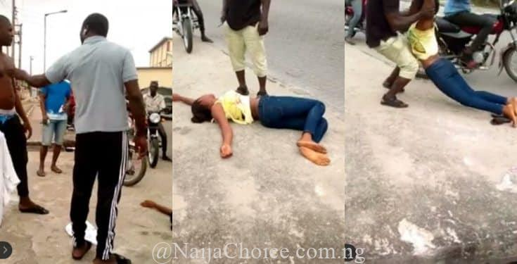 Young Lady 'Faints' Repeatedly On The Streets Of Lagos, Shouting 'Marry Me Or I Die'