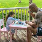 """This Photo of Dwayne Johnson and his Daughter Enjoying """"Tea"""" will Make Your Day"""