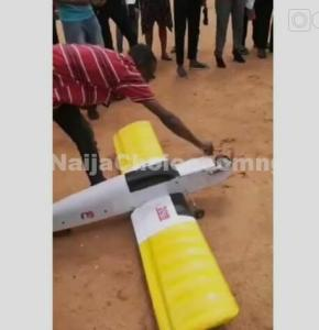 FUTO Student Test Runs The Airplane He Built As His Final Year Project