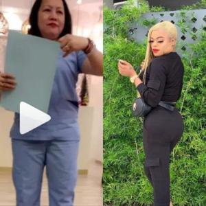 I can't sit on my buttocks for one month – Bobrisky says after undergoing liposuction surgery