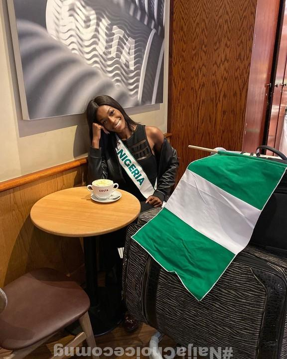 The Most Beautiful Girl In Nigeria Lands In London For Miss World 2019 (Photos)