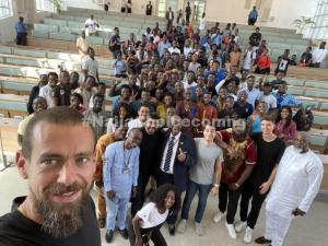 Twitter CEO, Jack Dorsey Visits UNILAG, Poses With Students (Photos)