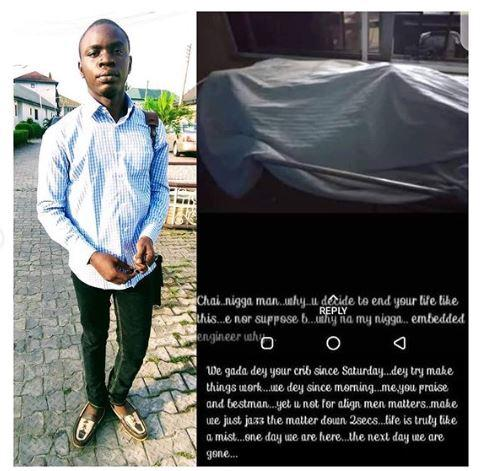 UNIPORT Final Year Student Commits Suicide After A WhatsApp Post (Photo)