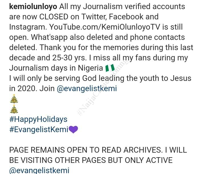 Kemi Olunloyo Retires From Journalism, Turns Evangelist, Leading Youths To Jesus