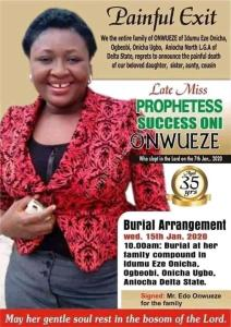 35-Year-Old Prophetess Poisoned To Death By Her Junior Pastors (Photos)