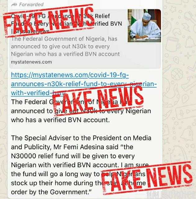 FG Is Not Sharing ₦30,000 To Nigerians. Ignore Any Website Saying they Are