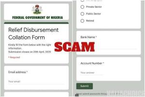 Alert! FGN Relief Disbursement Collation Form Is A Scam