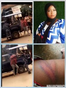 Photos Of The Lady Flogged By Policemen On Her Way To Get Drugs & Relief Materials