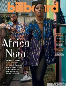 American Billboard Features Davido, Tiwa Savage & Mr Eazi On Its Cover (Photos)