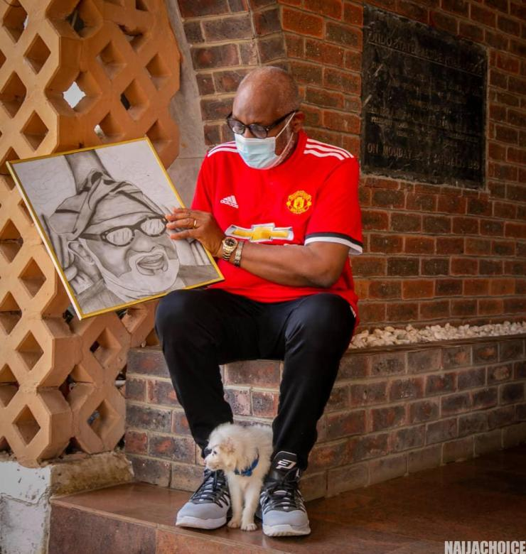 Governor Akeredolu Meets Young Artist Who Drew His Portrait (Photos)