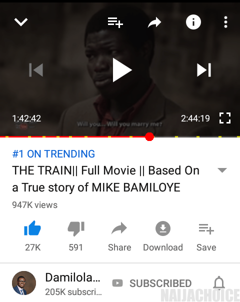 Lessons To Learn From Mike Bamiloye, As His Biomovie 'The Train' Trends No 1 Online