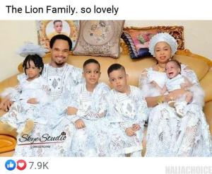 See Beautiful Photo Of Prophet Odumeje And His Family (photos)
