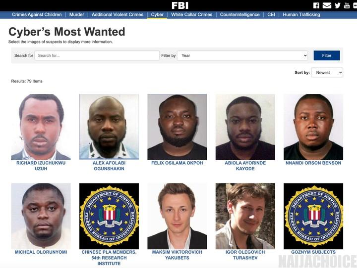 FBI Declares 6 Nigerians Wanted For  Million Fraud (Photos)