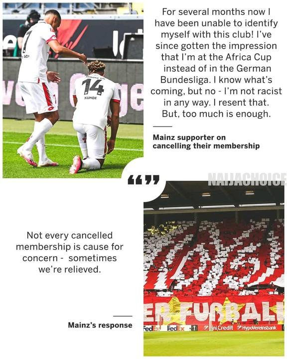 Mainz 05 Football Club Savagely Hits Back At A Racist Fan After Racist Comments