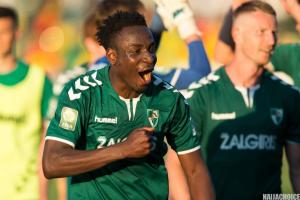 Nigerian Footballer, Otele Shines In Lithuania As He Scores