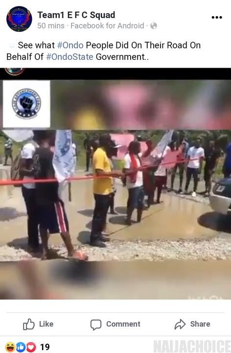 Ondo Youths Commission Road
