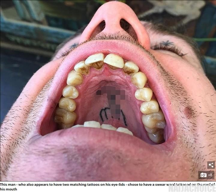 Photos Of Artwork Done By Belgian Artist Who Tattoos The Roof Of People's Mouths