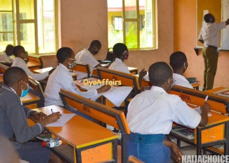 Schools Reopen In Oyo Today, Observe COVID-19 Guidelines (Photos)