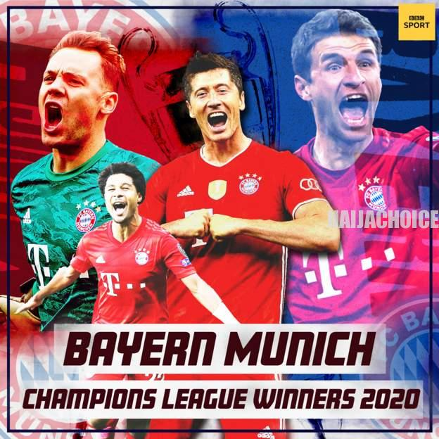 Bayern Munich Are 2019/2020 UEFA Champions League Winners