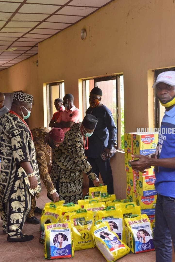 Celebration In Abia LGA As NGO Distributes Bags  Of Rice, Beans, Noodles, Others (Pix)