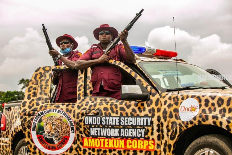 Colorful Pictures As Governor Akeredolu Inaugurates Operation Amotekun In Ondo