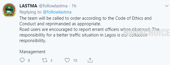 LASTMA Officers Will Be Sanctioned After They Were Filmed Breaking COVID-19 Safety Guidelines While On Duty