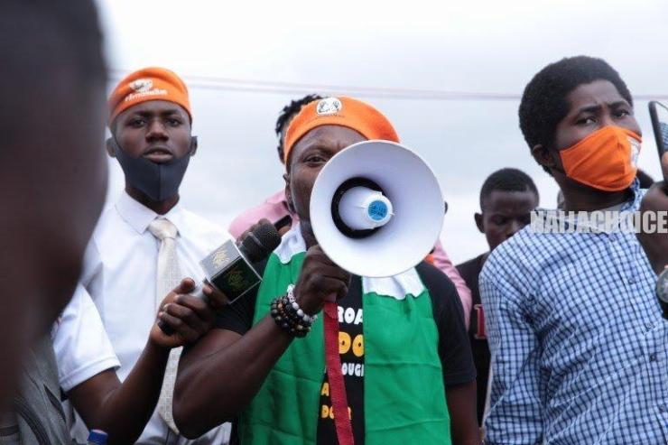 Photos Of Journalist Agba Jalingo Before His Arrest During 'Revolution Now' Protest